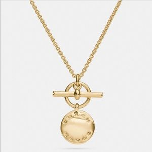 NWT Coach Disc Necklace F54899