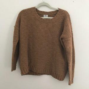 Madewell Wallace camel tan oversize sweater sz S