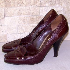Burberry Leather Heels Pumps Size 9