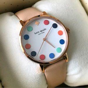 Kate ♠️ Spade women's multi dot leather watch