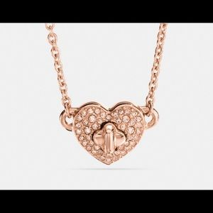 NWT Coach Twinkling Heart Necklace