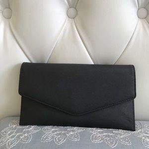 Steve Madden black wallet clutch