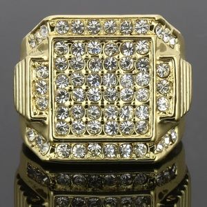 Other - Men's Gold Ring Iced Out Hip Hop Style Jewelry