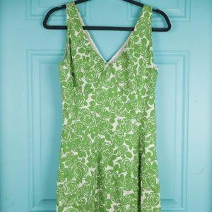 Boden Green Floral Sundress