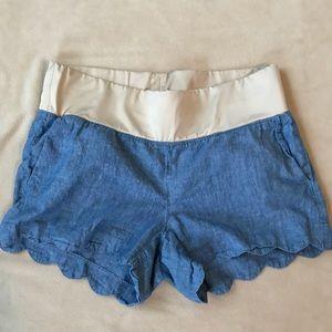 Loft maternity shorts