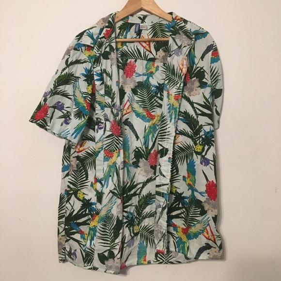 a9350f1b H&M Shirts | Hm Hawaiian Shirt New Without Tags | Poshmark