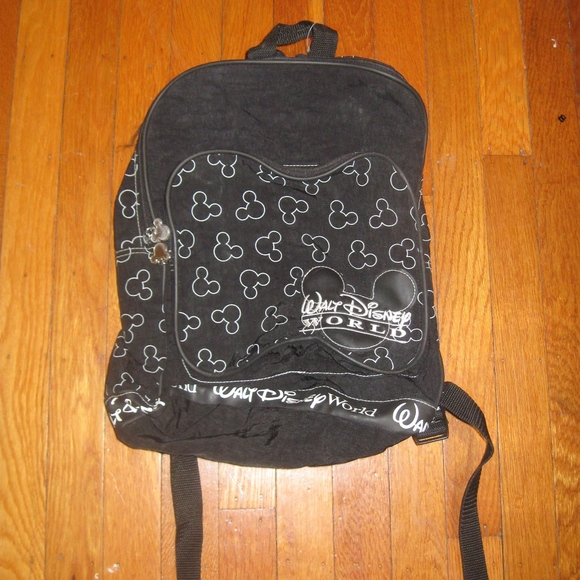 590b8f907caa Disney Handbags - 90s Walt Disney World Black and white backpack bag