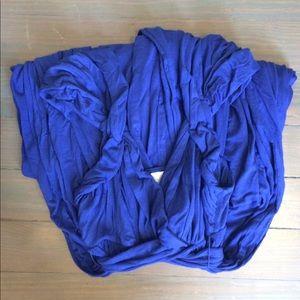 Anthropologie Royal Blue Drapey Jersey Dress XS