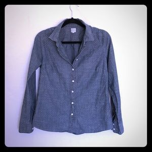 Chambray Shirt with White Dots