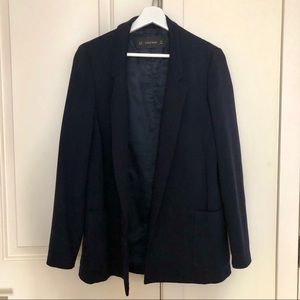 Zara oversize fluid blazer in navy