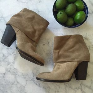 Vince Camuto Brass Booties Suede 6