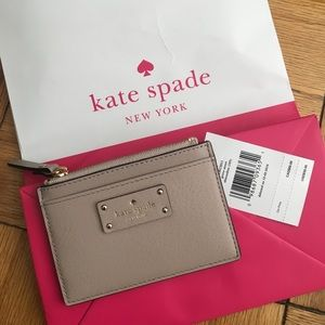 NWT Kate Spade card and coin pouch