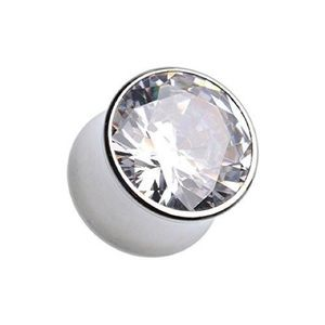 Jewelry - Cubic zirconia 0 gauge plugs