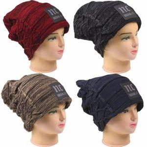 Accessories - Winter Hat Unisex Men Women Knit Baggy Beanie