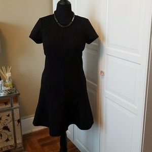 And Taylor black fit and flare dress