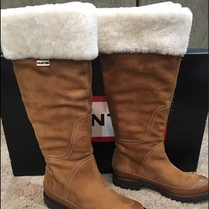 Suede and Leather winter Hunter Boots