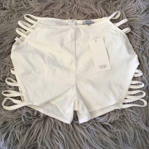 TOBI cutout shorts.