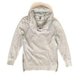 Old Navy Active Gray Cowl Turtleneck Sweatshirt