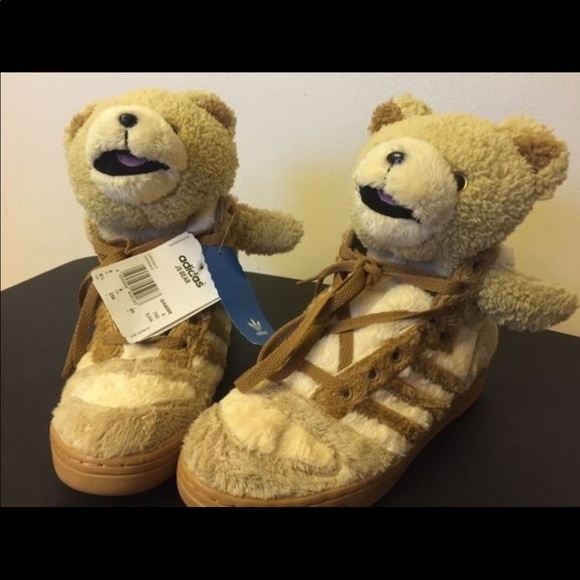 low priced b5a38 4d835 Adidas Jeremy Scott teddy bear shoes rare limited