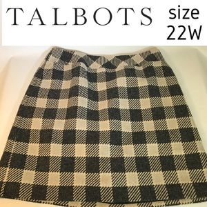 TALBOTS Sz 22 Buffalo Check Skirt Gingham