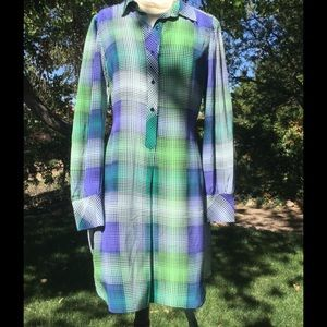 BCBG silk shirt dress 👗 Size L. EUC