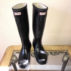 Hunter Black Matte Tall Boots