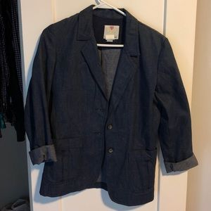 Vintage Denim Blazer / Size Small-Medium