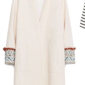 Zara Tribal Sleeve Linen Coat