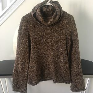Express speckled wool blend turtleneck sweater