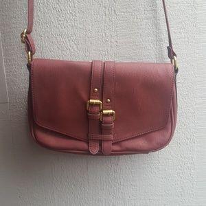 Maroon cross body purse