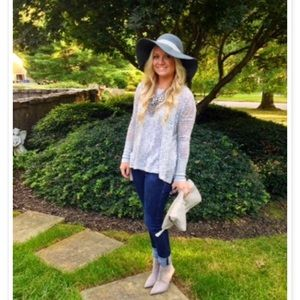Grey floppy hat