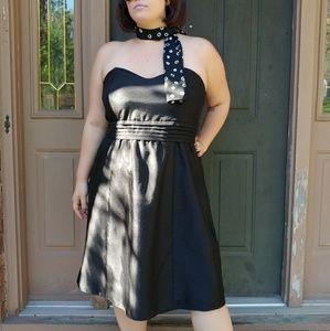 Black Formal Strapless Dress- Size 18