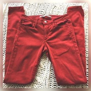 Joe's Jeans The Skinny Red Stretch 26