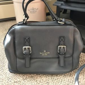 Kate Spade grey leather bag with handles & strap
