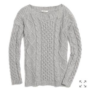Madewell Boatneck Cableknit Sweater