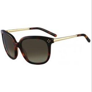 Chloe Tortoise Shell & Gold Sunglasses