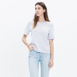 Madewell Light Gray Short Sleeve Sweater XXS