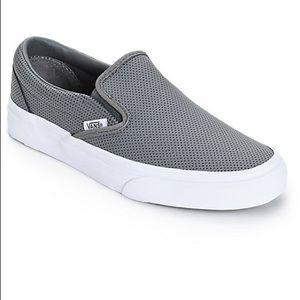 Gray Slip-on Vans