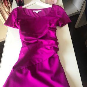 Diane Von Furstenberg Fuscia Purple Dress. New!