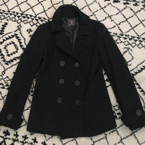 FOREVER 21 Black Wool Peacoat
