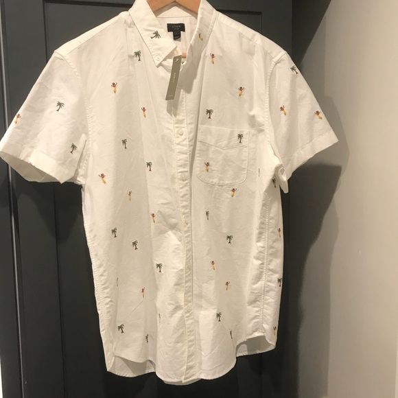 a8458f98 J. Crew Shirts | Nwt Jcrew Hula Embroidered Button Down Shirt | Poshmark