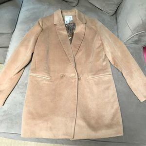 Tan Pea Coat with soft interior