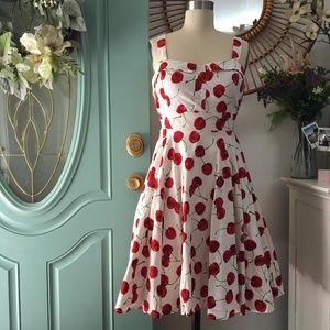 ModCloth Cherry Print Pin-Up Dress