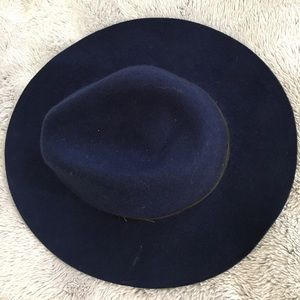 Blue Wide Brimmed Fedora