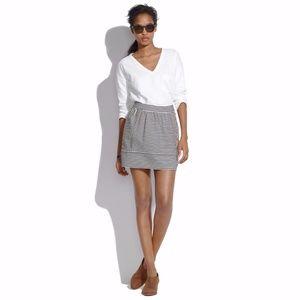 Madewell Ponte Swivel Skirt STRIPED SKIRT