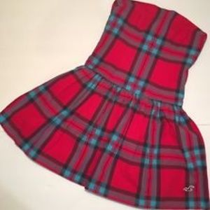 Strapless plaid dress from Hollister, euc