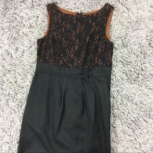 Merona 2 Small Black Dress Career LBD Lace Work
