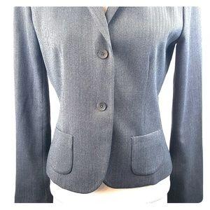Tahari Grey Two Button Blazer Size Large