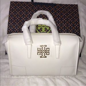 Tory Burch Britten Satchel Leather Tote Bag New