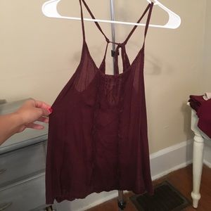 Tie lace tank top free people
